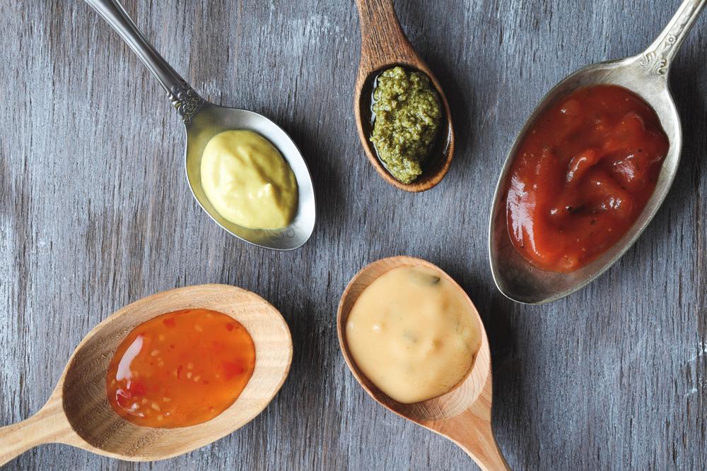 alimentos con gluten, salsas y salsas preparadas