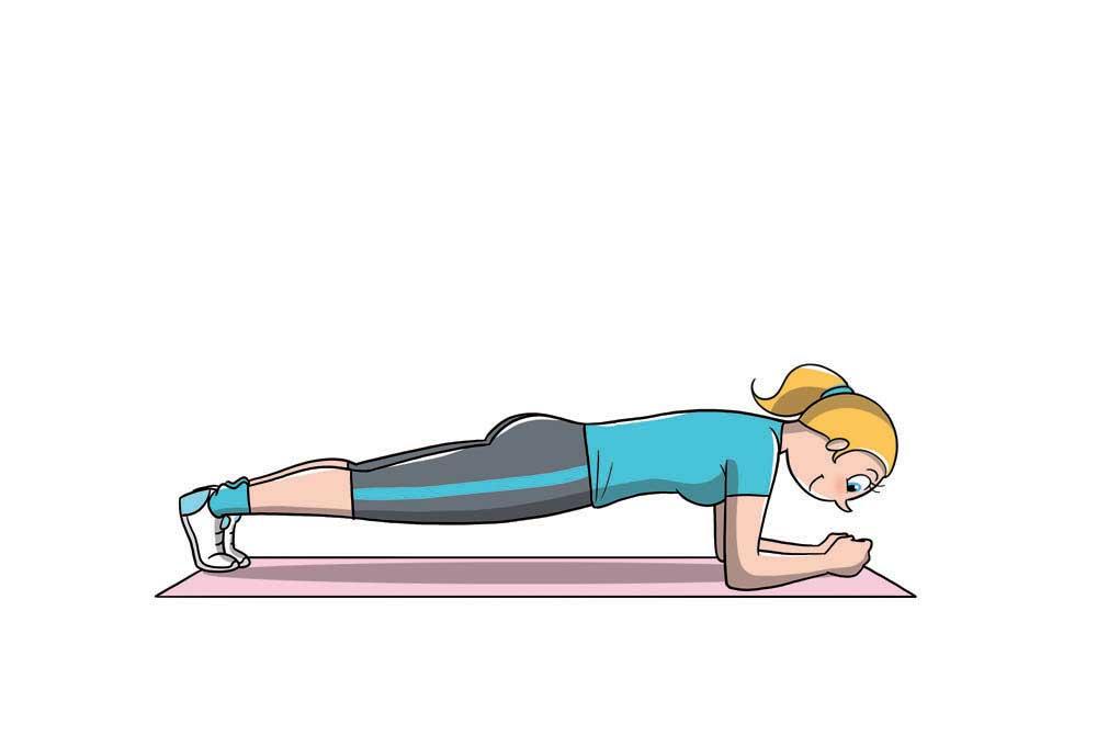 diástasis abdominal: plancha