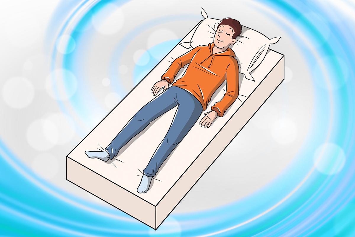 posición supina: entrenamiento autógeno