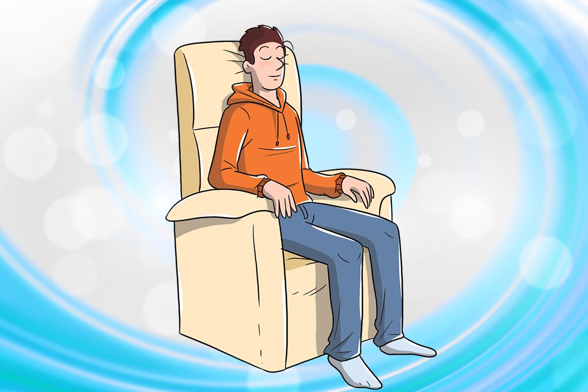 posición en la silla: entrenamiento autógeno
