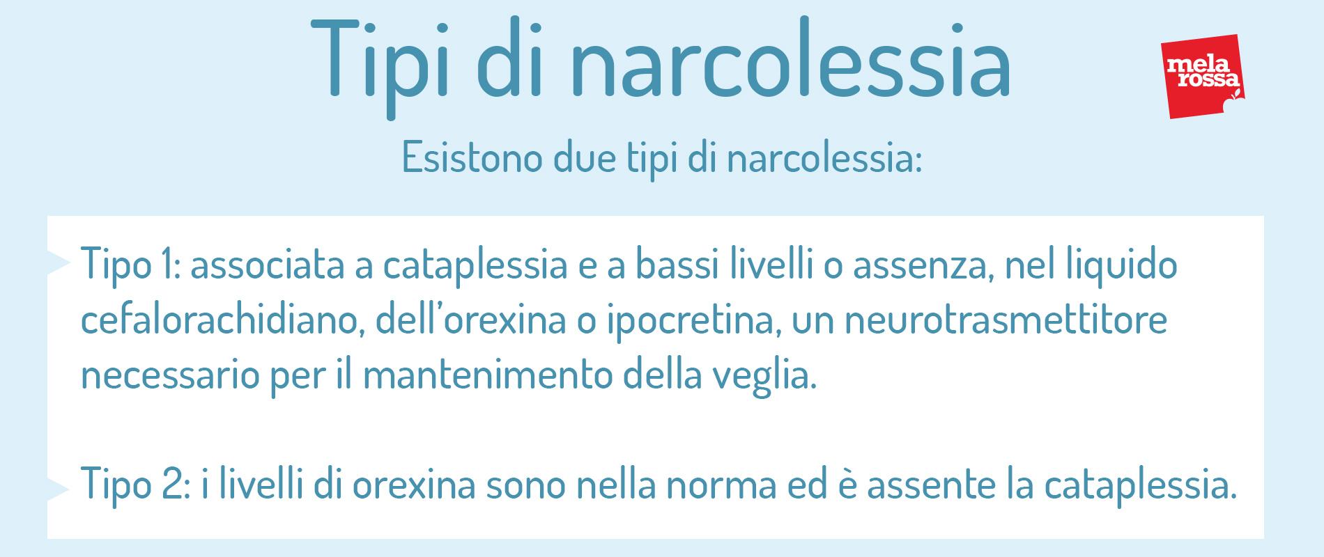 tipos de narcolepsia