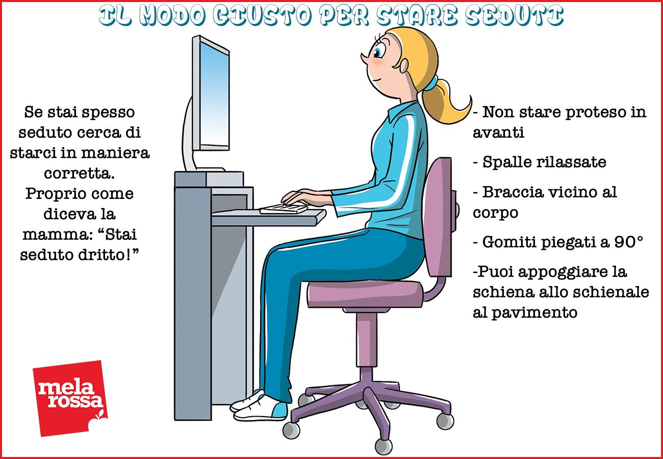 rigidez en el cuello: cómo sentarse correctamente